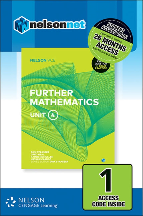 Nelson VCE Further Mathematics Unit 4 (1 Access Code Card)