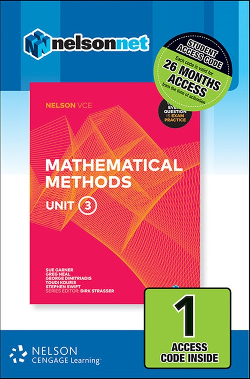 Nelson VCE Mathematical Methods Unit 3 (1 Access Code Card)