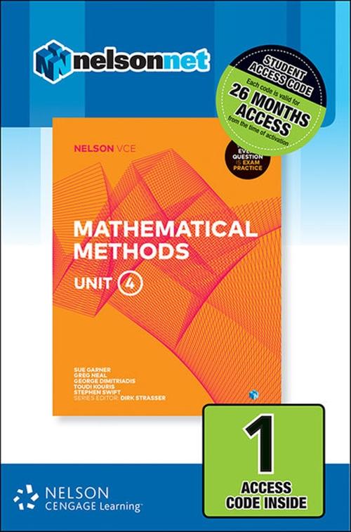 Nelson VCE Mathematical Methods Unit 4 (1 Access Code Card)