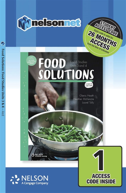 Food Solutions: Food Studies Units 3 & 4 1-code Access Card
