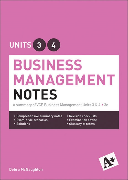 A+ Business Management Notes VCE Units 3 & 4