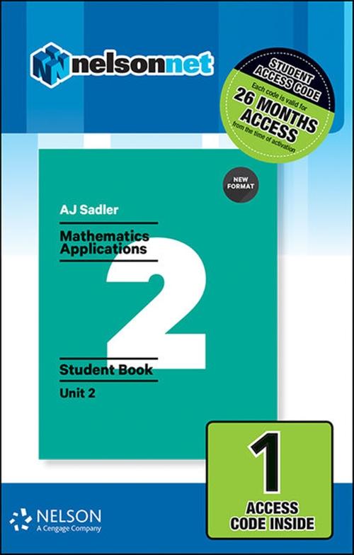 Sadler Maths Applications Unit 2 ' Revised Format ' 1 Access Code