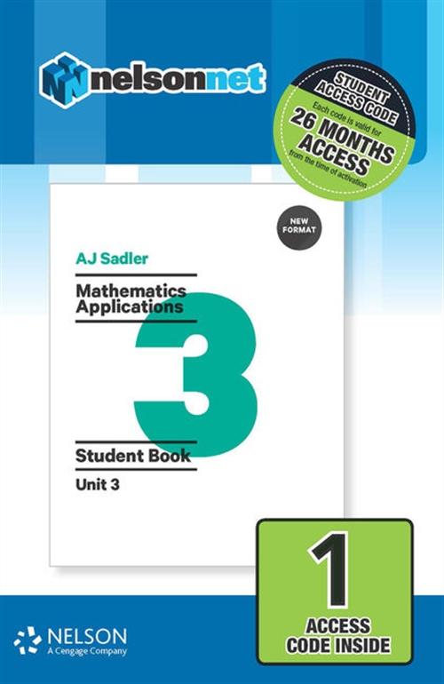 Sadler Mathematics Applications Unit 3 Revised (1 Access Code Card)