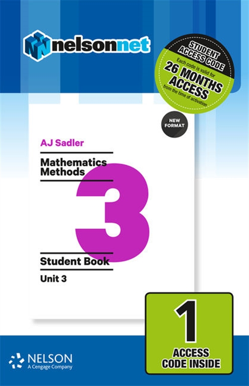 Sadler Mathematics Methods Unit 3 Revised ' 1 Access Code