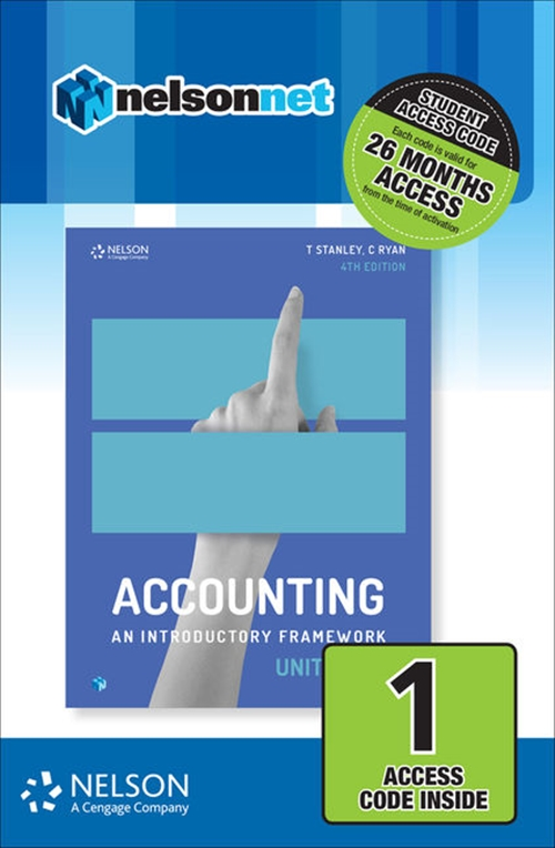 Accounting: An Introductory Framework Units 1 & 2 (1 Access Code Card)