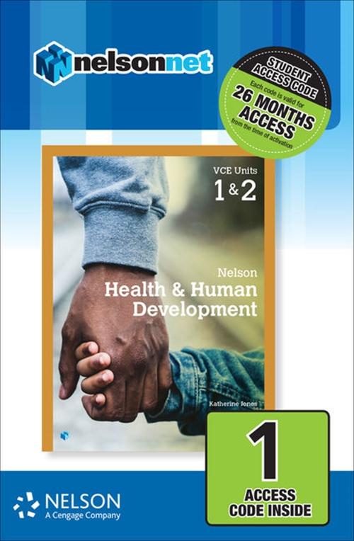 Nelson Health & Human Development VCE Units 1 & 2 (1 Access Code Card)