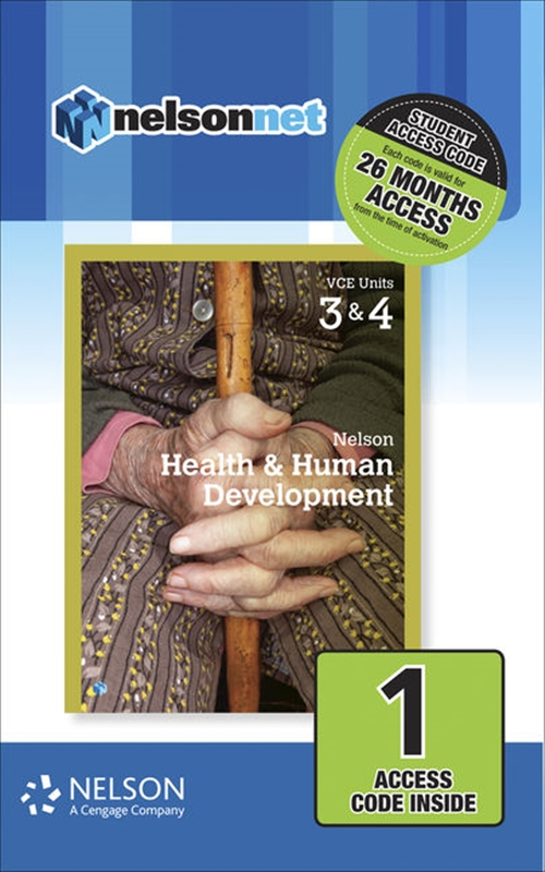 Nelson Health & Human Development VCE Units 3 & 4 (1 Access Code Card)