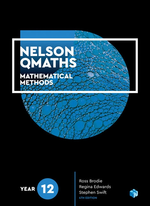 Nelson QMaths 12 Mathematics Methods Student Book + 4 Access Codes