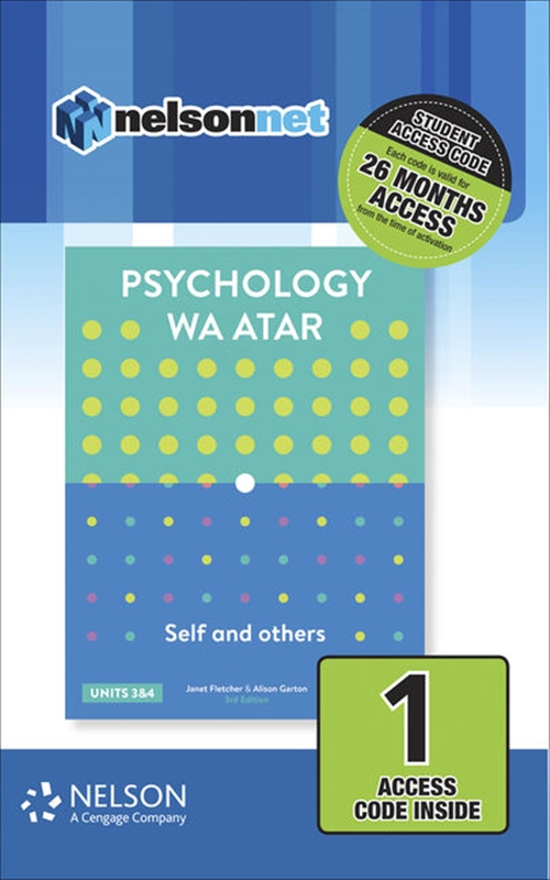 Psychology WA ATAR: Self & Others Units 3 & 4 (1 Access Code Card)