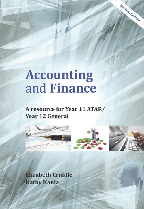 Accounting and Finance: A Resource for Year 11 ATAR and Year 12 General