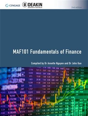 CP1178 - MAF101 Fundamentals of Finance, 2e