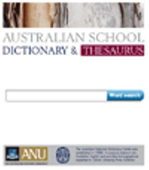 Online Australian School Dictionary and Thesaurus Promotional Version