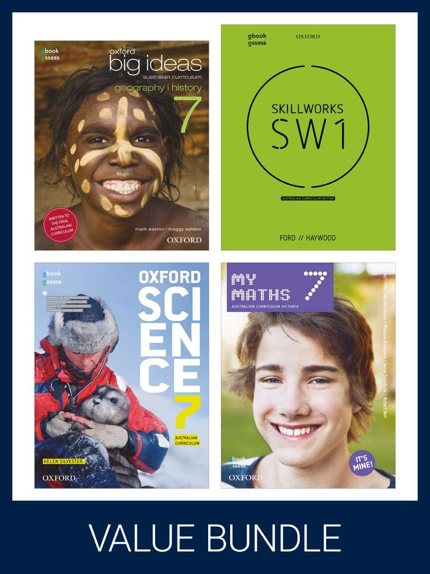Oxford Value Pack Australian Curriculum Year 7 2020 edition (print+digital)