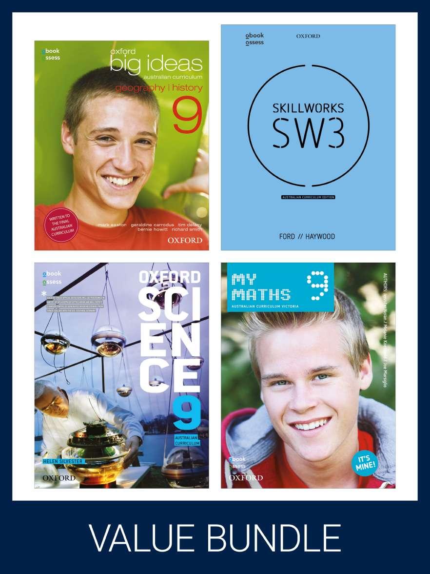 Oxford Value Pack Australian Curriculum Year 9 2020 edition (print+digital)