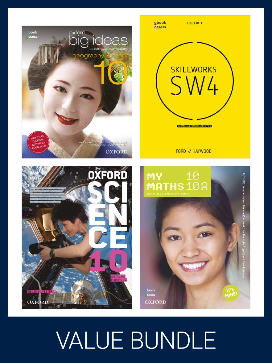 Oxford Value Pack Australian Curriculum Year 10 2020 edition (print+digital)
