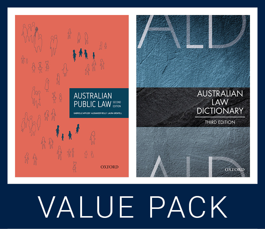 Australian Public Law 2e & Australian Law Dictionary 3e Value Pack