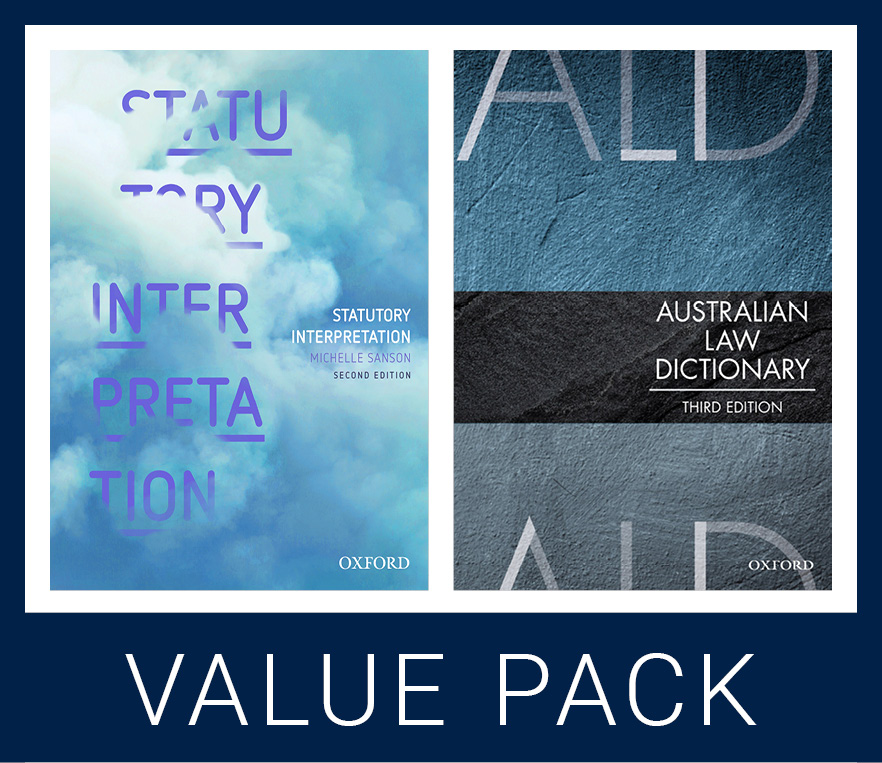 Statutory Interpretation 2e and Australian Law Dictionary 3e Value Pack
