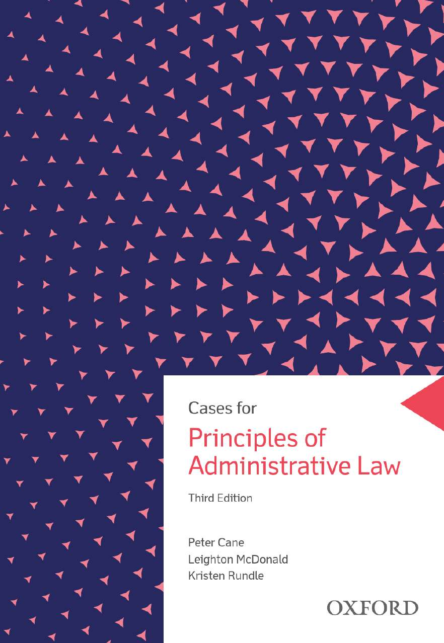 Cases for Principles of Administrative Law eBook
