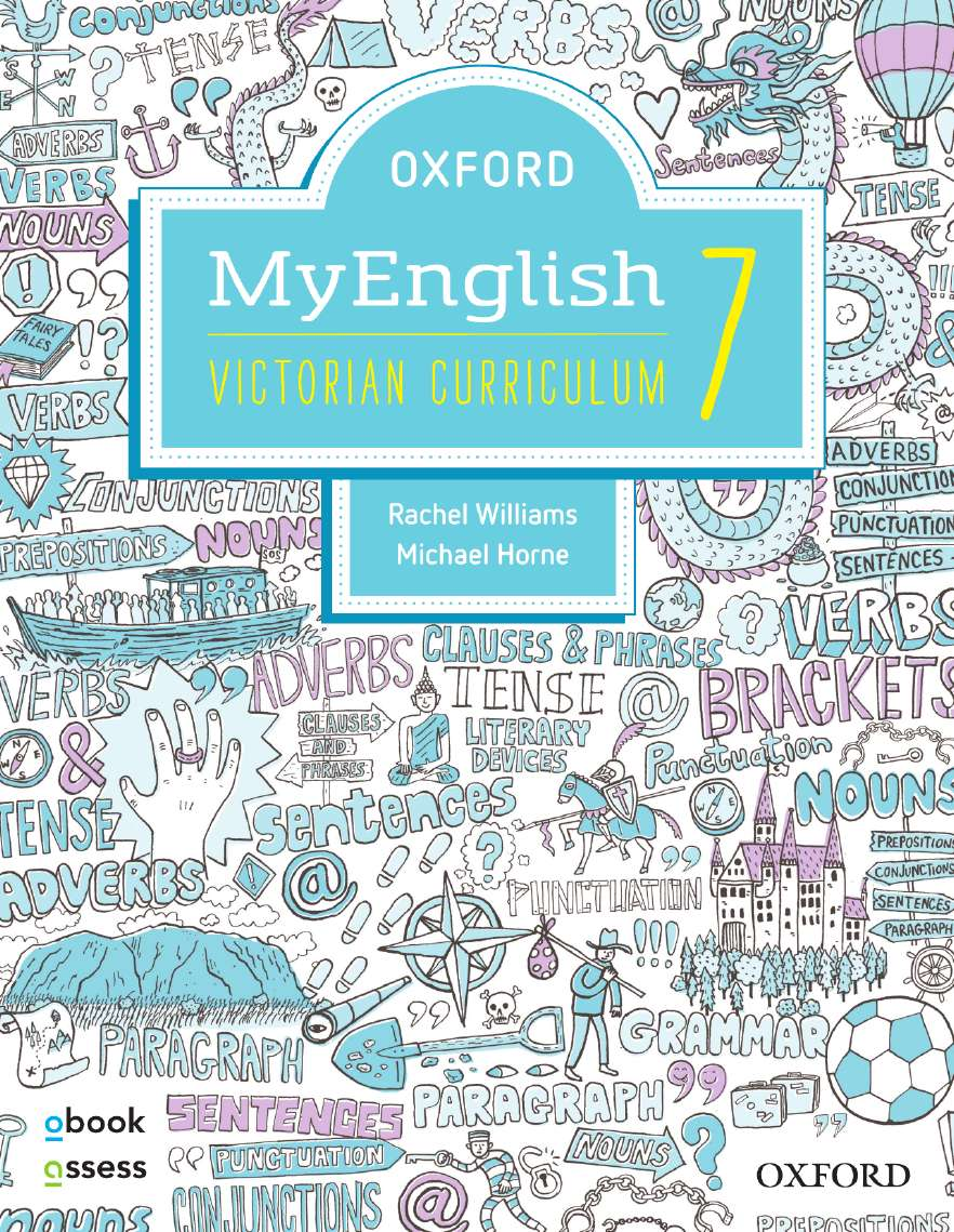 Oxford MyEnglish 7 Victorian Curriculum Student book + obook assess + Upskill