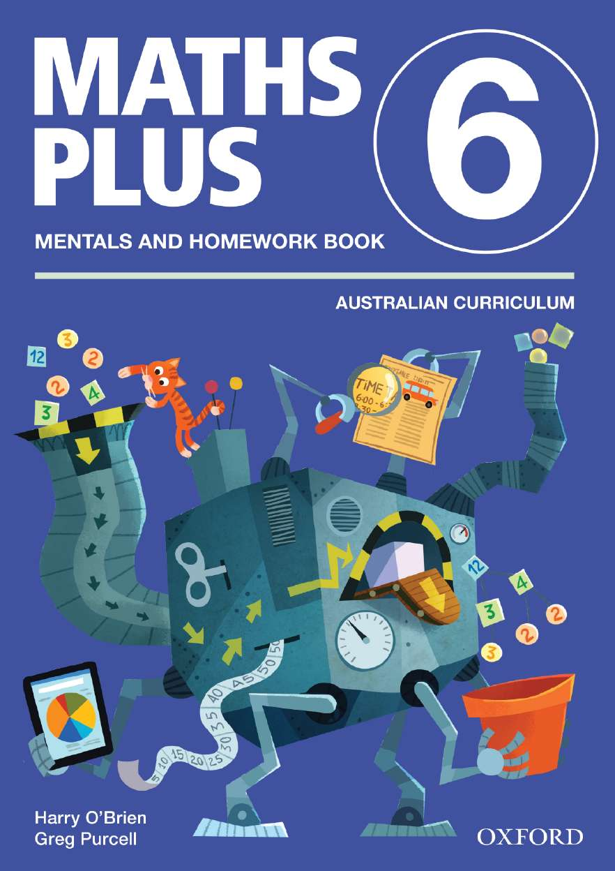 Maths Plus Aus Curriculum Edition Mentals & Homework Book 6 Revised Ed 2016