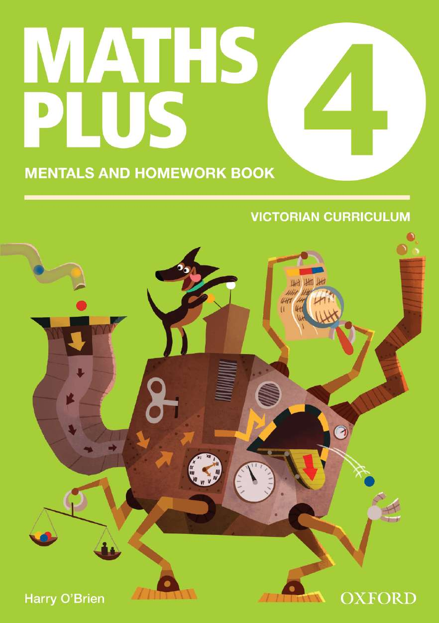 Maths Plus VIC Aus Curriculum Edition Mentals & Homework Book 4 2016