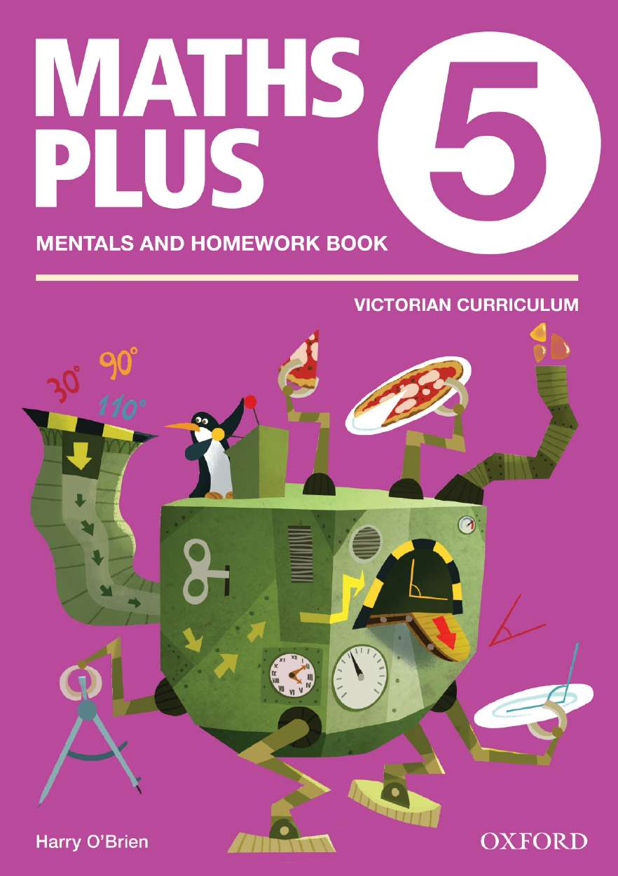 Maths Plus VIC Aus Curriculum Edition Mentals & Homework Book 5 2016