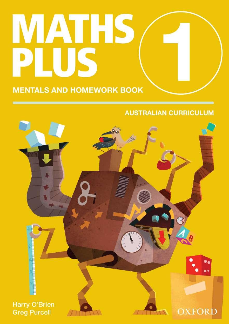 Maths Plus Aus Curriculum Edition Mentals & Homework Book 1 2016