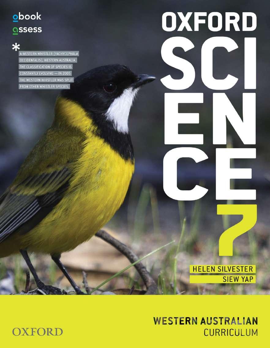 Oxford Science 7 Western Australia Curriculum Student book + obook assess