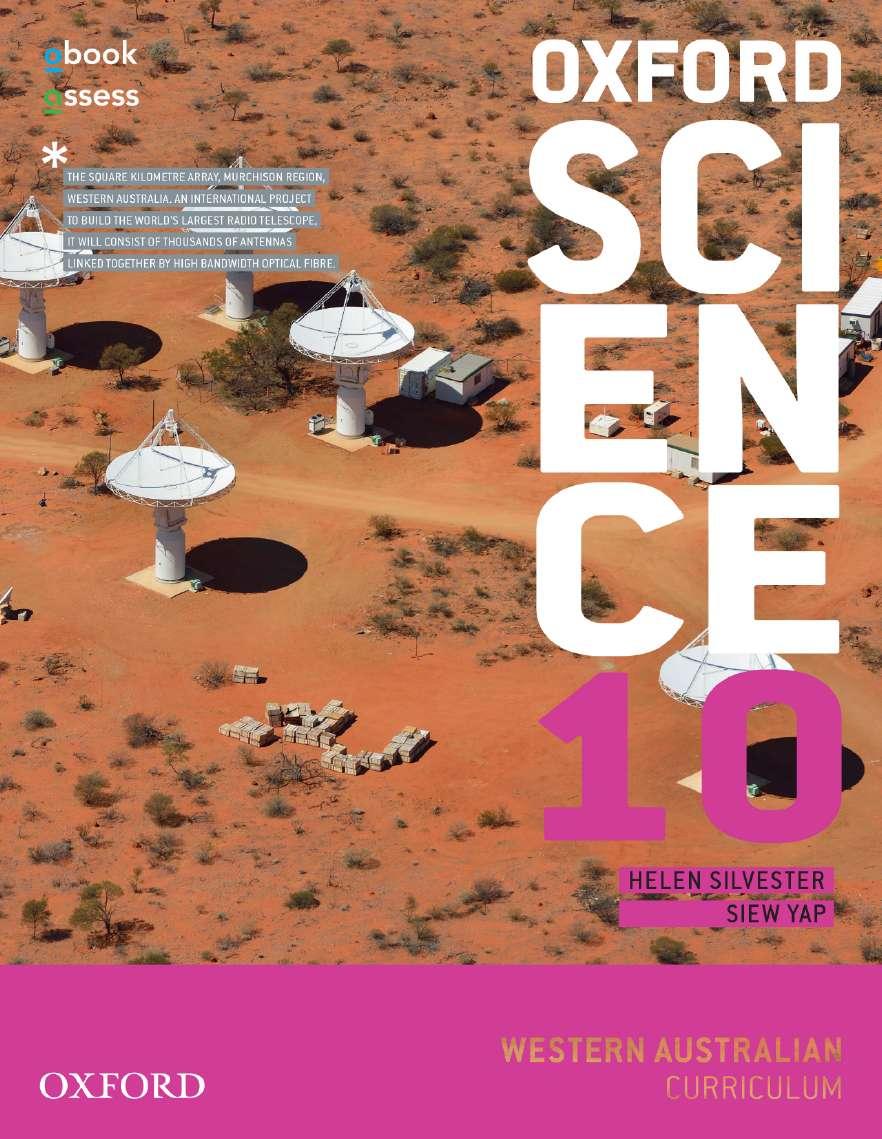 Oxford Science 10 Western Australian Curriculum Student book + obook assess