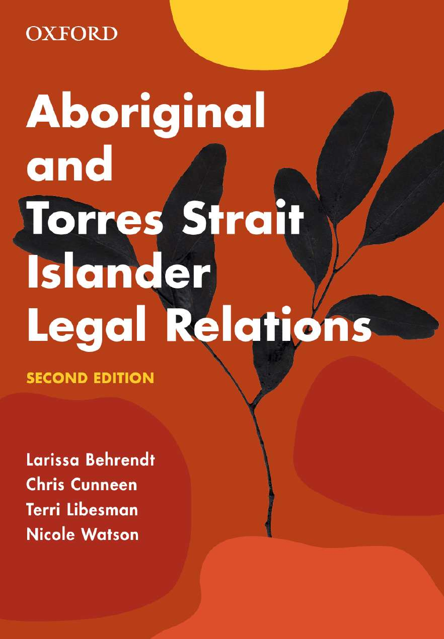 Aboriginal and Torres Strait Islander Legal Relations eBook