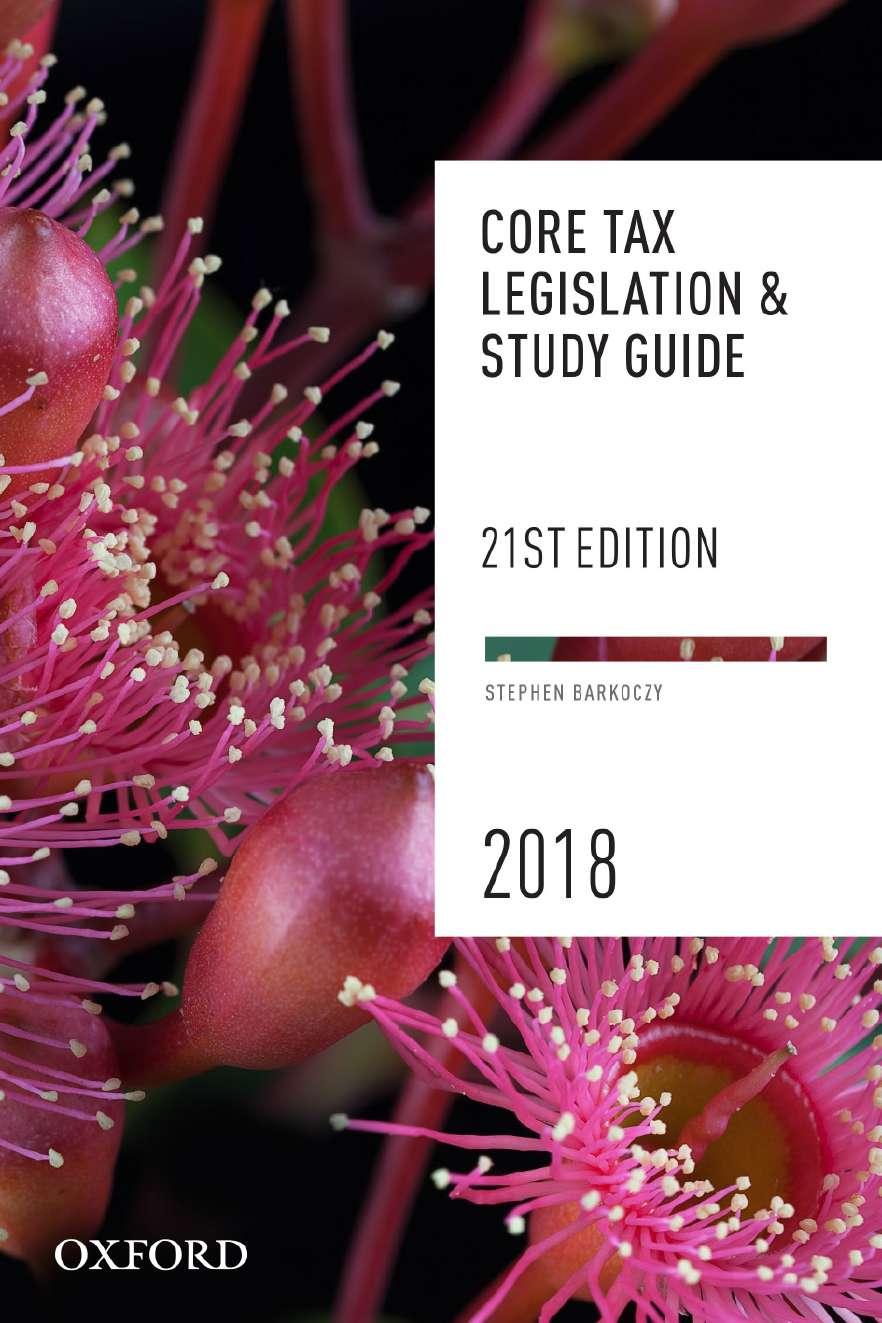Core Tax Legislation and Study Guide 2018 eBook