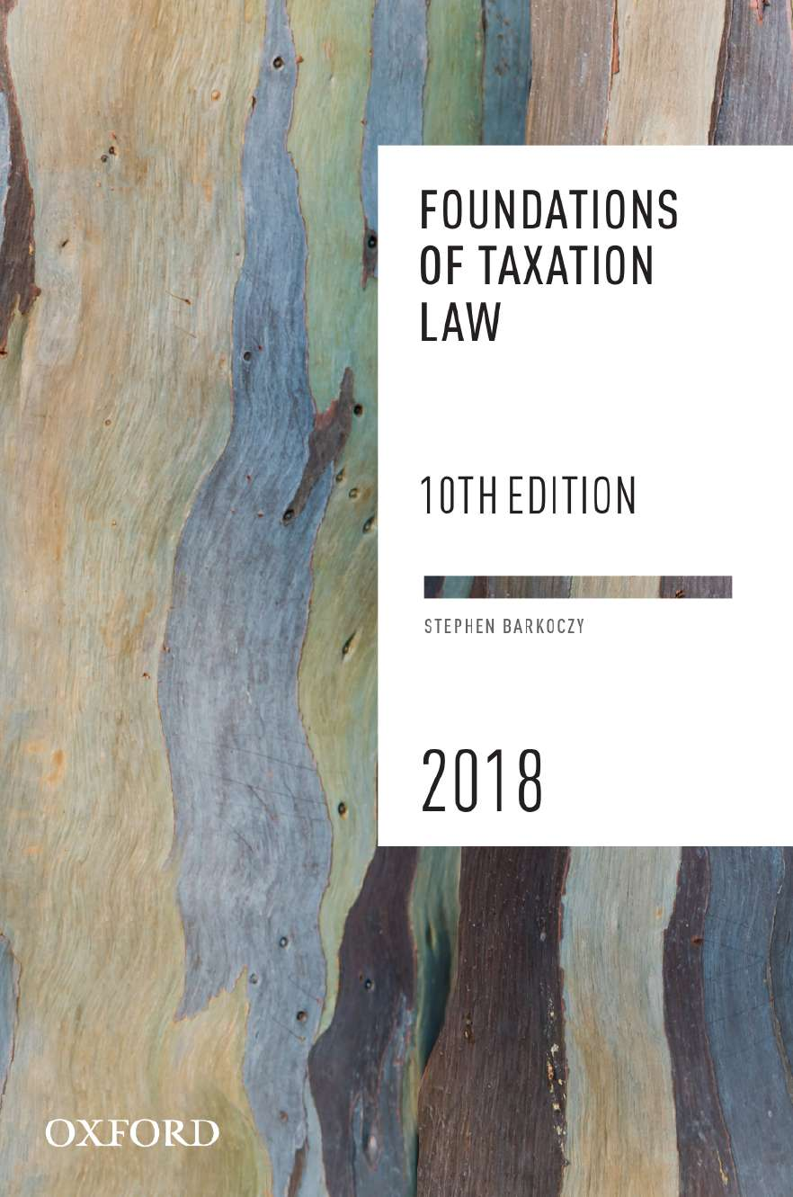 Foundations of Taxation Law 2018 eBook