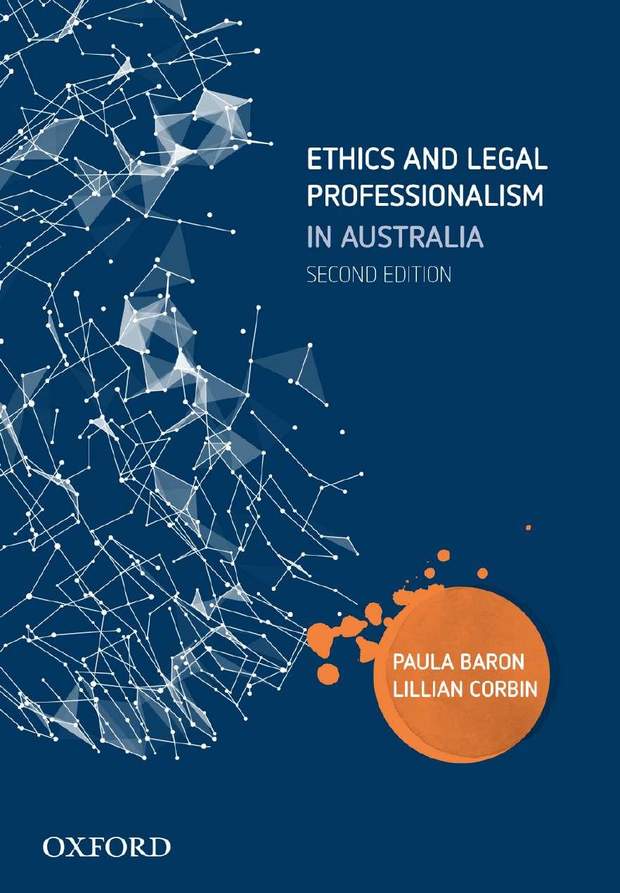 Ethics and Legal Professionalism in Australia ebook