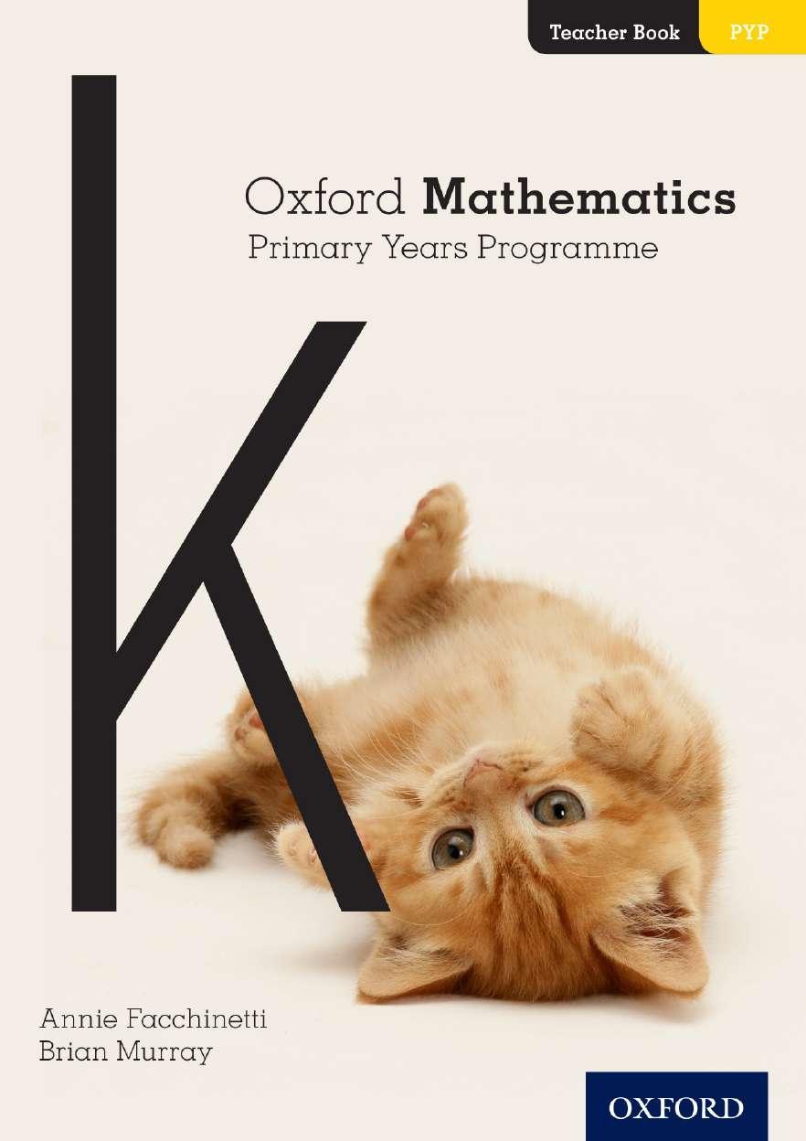 Oxford Mathematics Primary Years Programme Teacher Book K