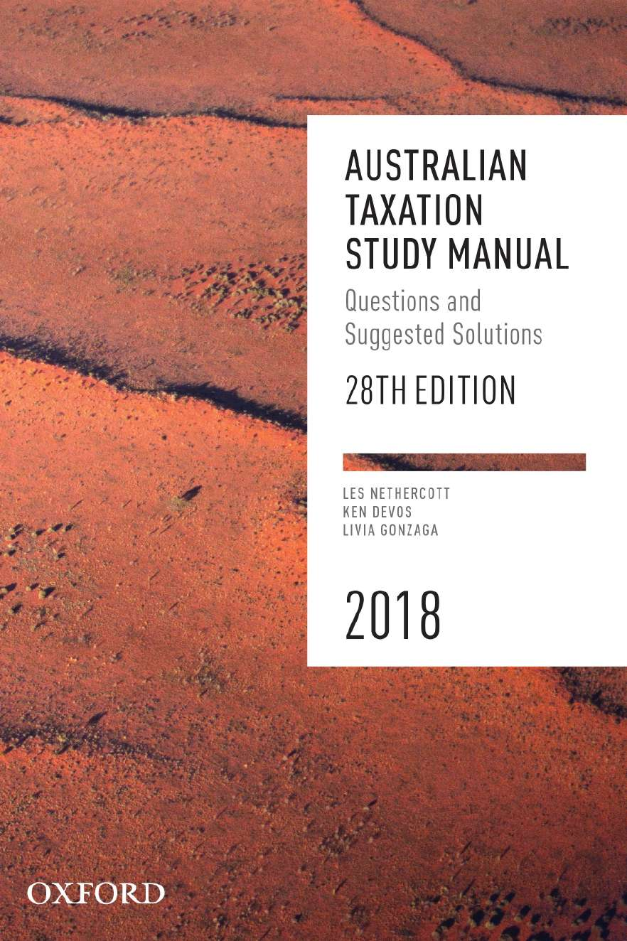 Australian Taxation Study Manual 2018 eBook