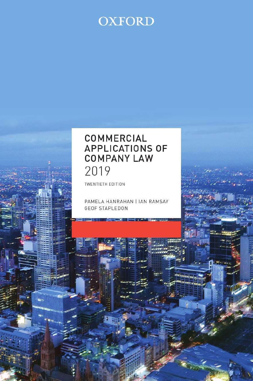 Commercial Applications of Company Law 2019 eBook