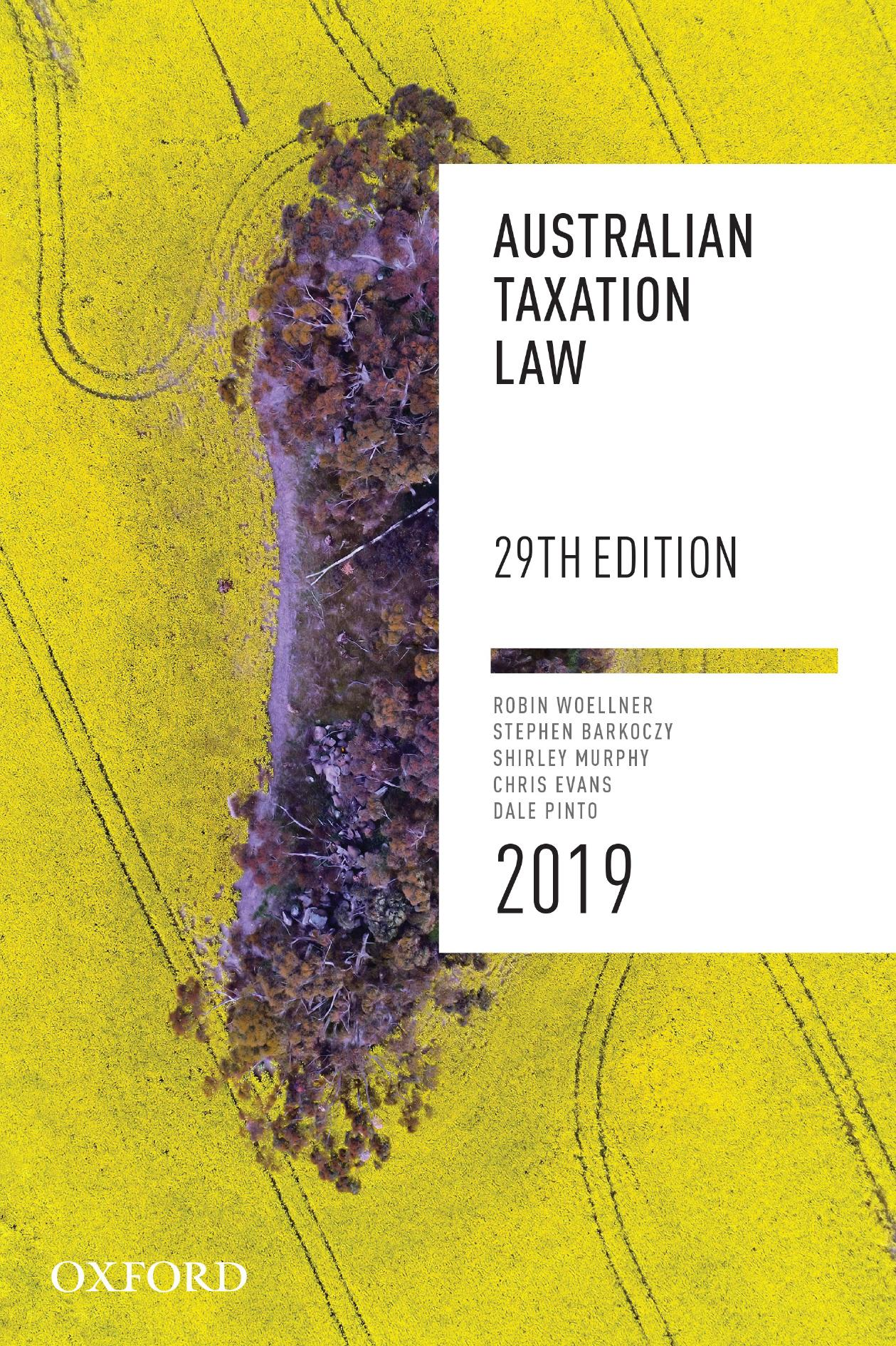 Australian Taxation Law 2019 eBook