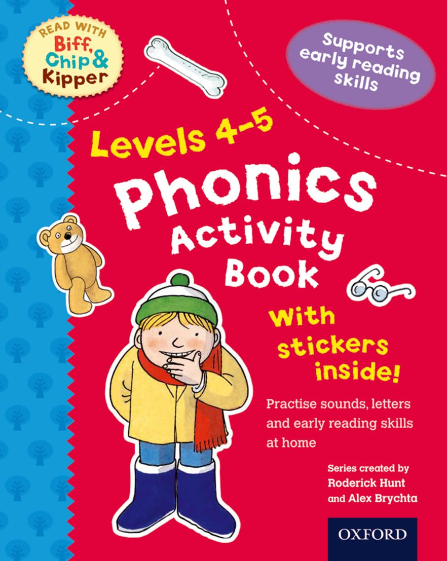 Read with Biff, Chip and Kipper Levels 4-5 Phonics Activity Sticker Book