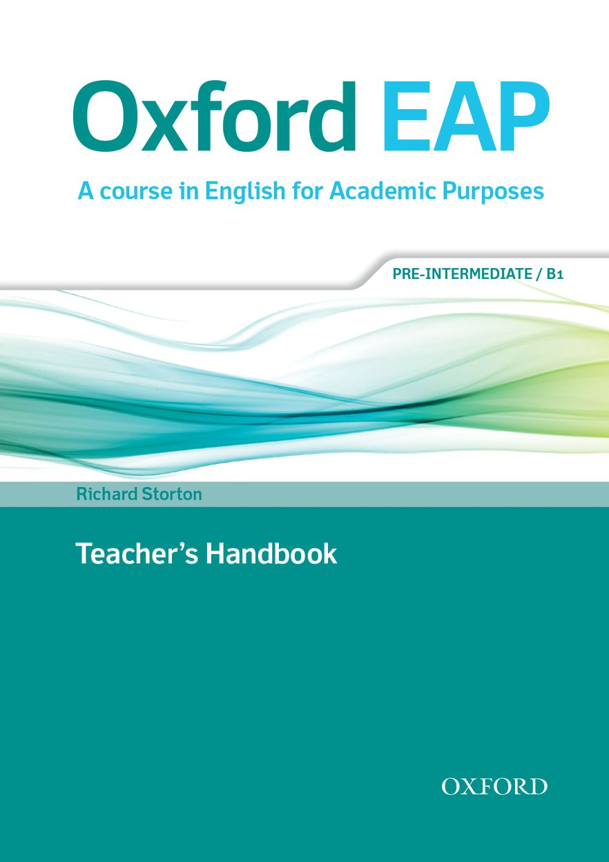 Oxford EAP Pre-intermediate Teachers Book & DVD Pack