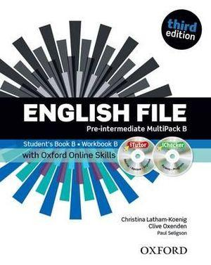 English File Pre-Intermediate Multipack B with iTutor and Online Skills