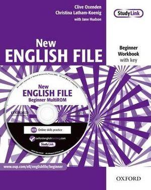 New English File Beginner Workbook with Answers and Multirom Pack