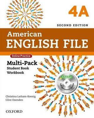 American English File Level 4 Multi-Pack A with Online Practice and iChecker