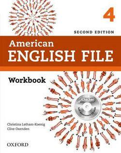 American English File Level 4 Workbook with iChecker