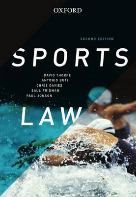 Sports Law 2nd Edition by Thorpe