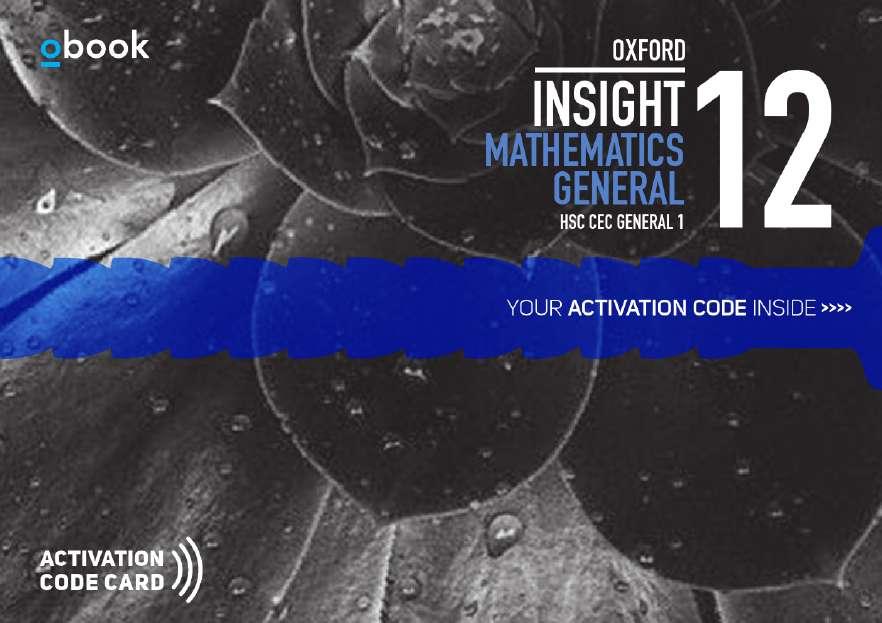 Oxford Insight Mathematics General HSC CEC 1 Student obook assess (code card)