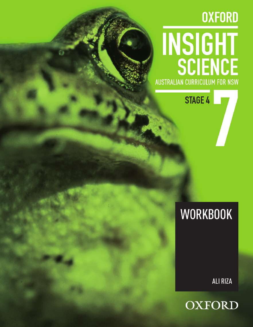Oxford Insight Science 7 Australian Curriculum for NSW Workbook