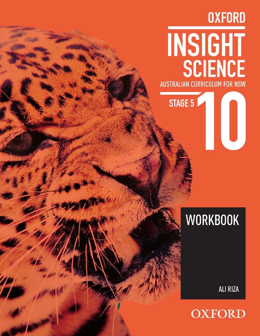 Oxford Insight Science 10 Australian Curriculum for NSW Workbook