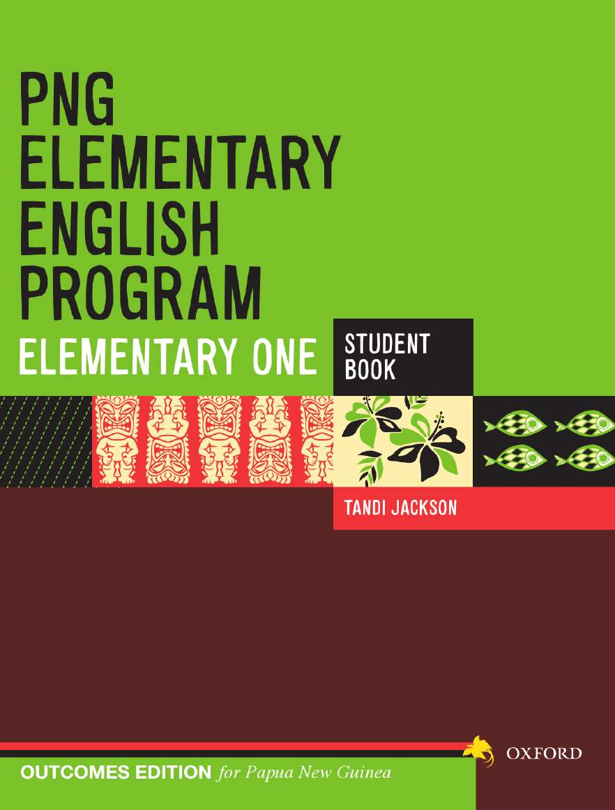 PNG Elementary English Program Student Book Elementary 1