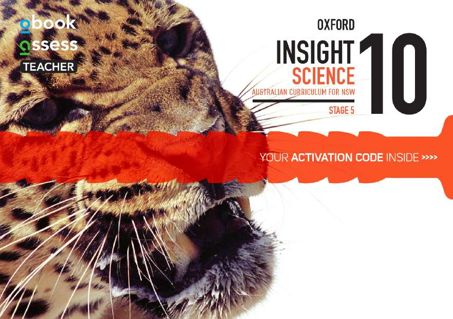 Oxford Insight Science 10 AC for NSW Teacher obook assess (code card)