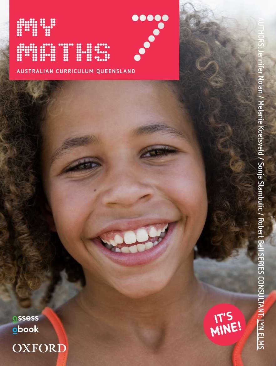Oxford MyMaths 7 Australian Curriculum Queensland Student book + obook assess